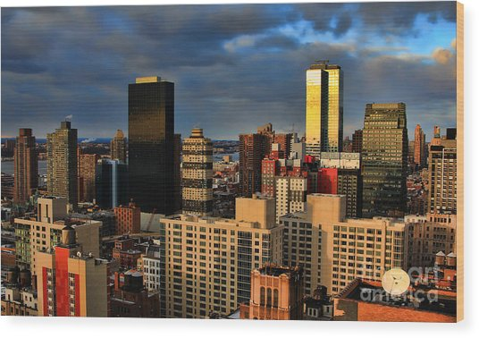 Winter Light In New York Wood Print