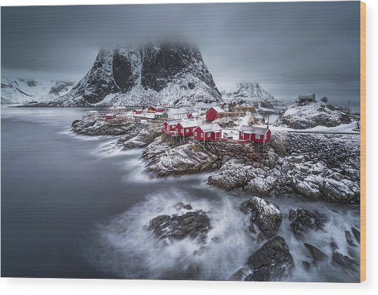Winter Lofoten Islands Wood Print