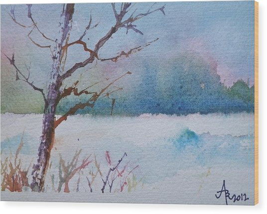 Winter Loneliness Wood Print