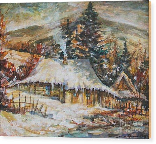 Winter Magic Wood Print