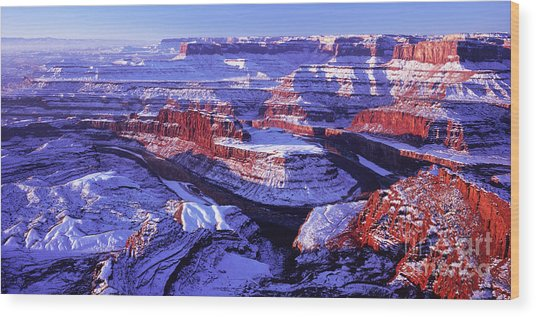 Winter Of Dead Horse Point Wood Print