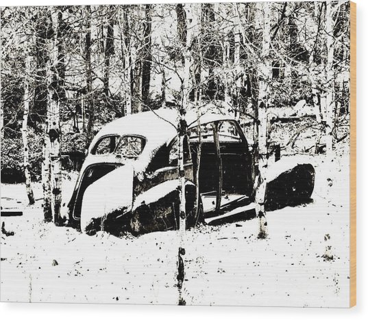 Winter Olds Wood Print
