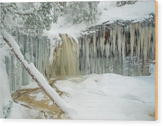 Winter On Carpenter Creek Wood Print
