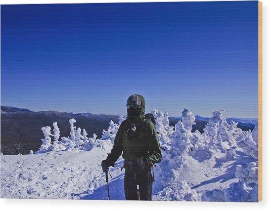 Winter On Mt Jackson Wood Print