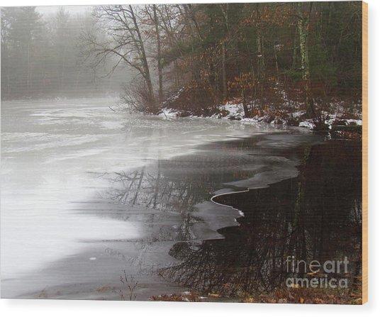 Winter On Tarklin Pond Wood Print