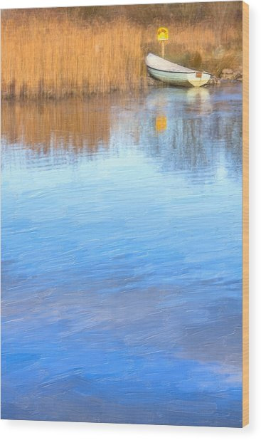 Winter On The Corrib In Galway Wood Print by Mark Tisdale