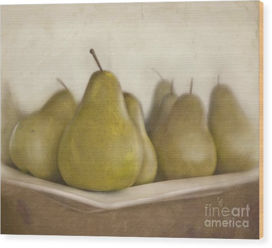 Winter Pears Wood Print