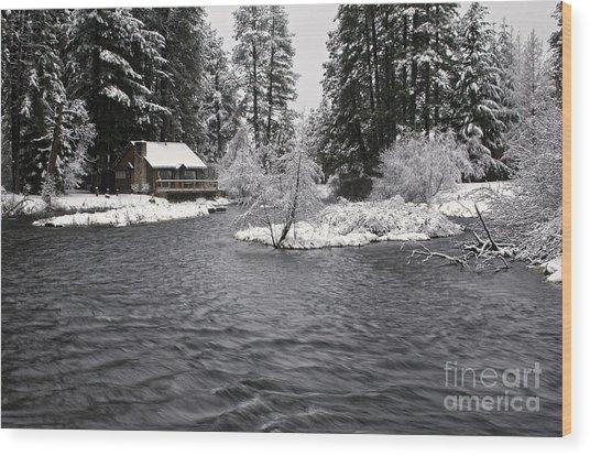 Winter Postcard Wood Print