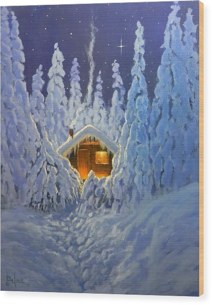 Winter Retreat Wood Print