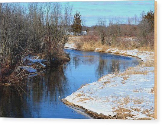 Winter River5 Wood Print by Jennifer  King