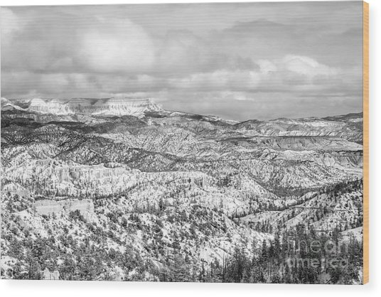Winter Scenery In Bryce Canyon Utah Wood Print by Julia Hiebaum