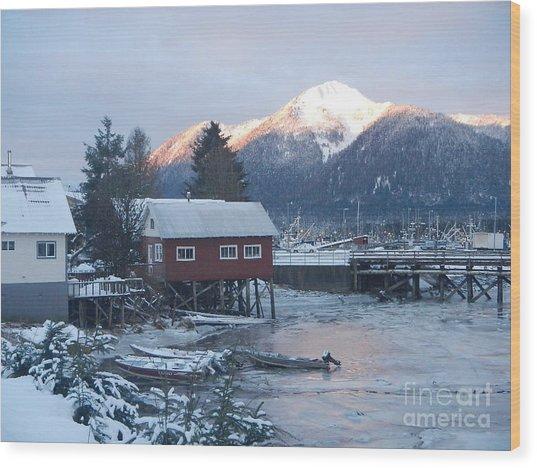 Winter Scenery Wood Print