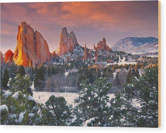 Winter Serenity Wood Print