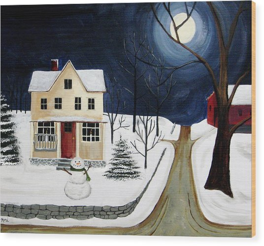 Winter Solo Wood Print by Kori Vincent
