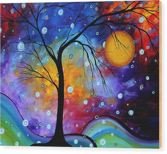 Winter Sparkle Original Madart Painting Wood Print