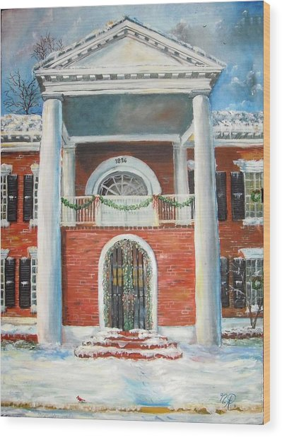 Winter Spirit In Dahlonega Wood Print