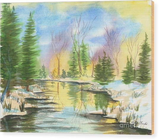 Winter Stillness Wood Print