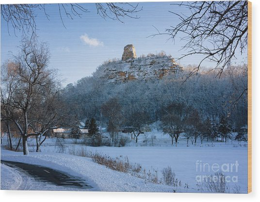 Wood Print featuring the photograph Winter Sugarloaf At East Lake by Kari Yearous