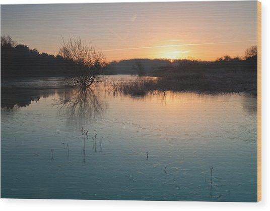 Winter Sunrise Wood Print