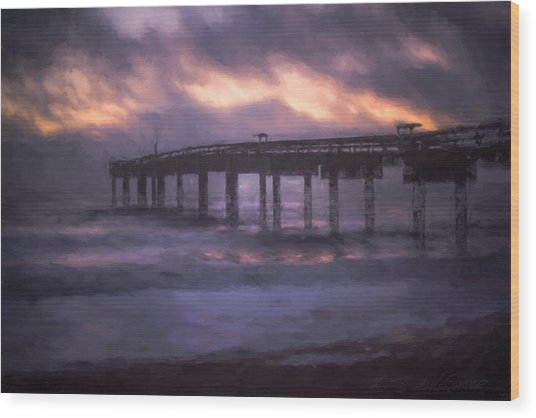 Winter Sunrise St. Augustine Beach Wood Print