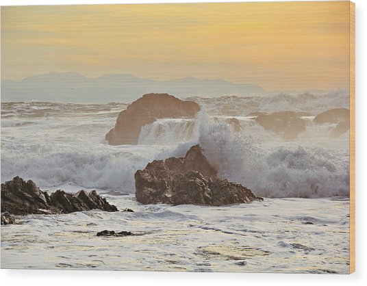Winter Sunset At Port Renfrew Wood Print