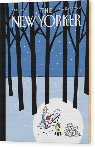 Winter Tails Wood Print