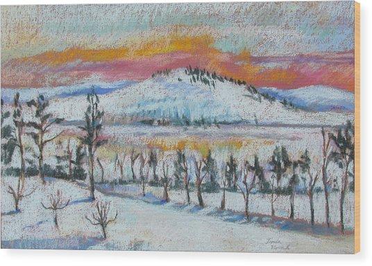 Winter View From Kripalu Wood Print