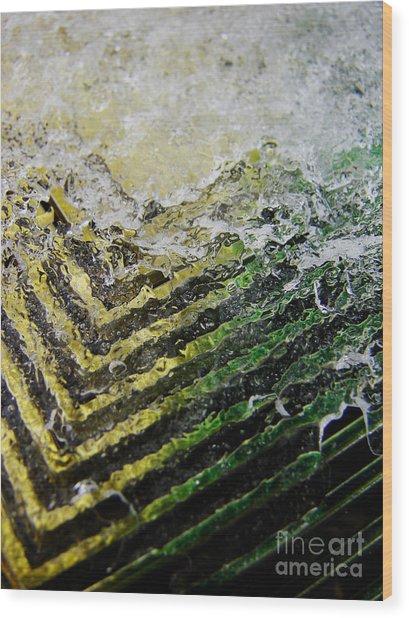 Winter Wedge Wood Print