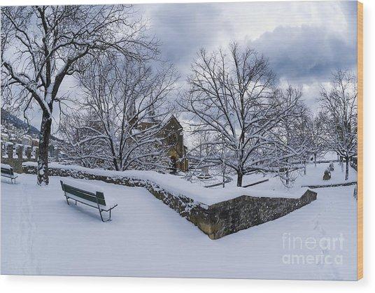Winter Welcome Wood Print