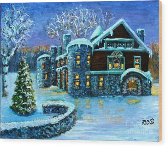 Winter Wonderland At The Paine Estate Wood Print