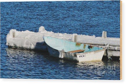 Winter Yacht Wood Print