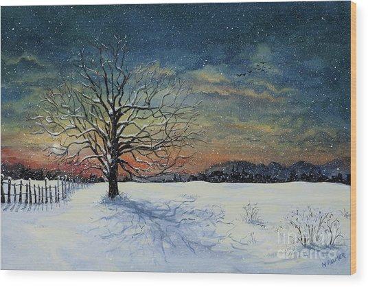 Winters Eve Wood Print