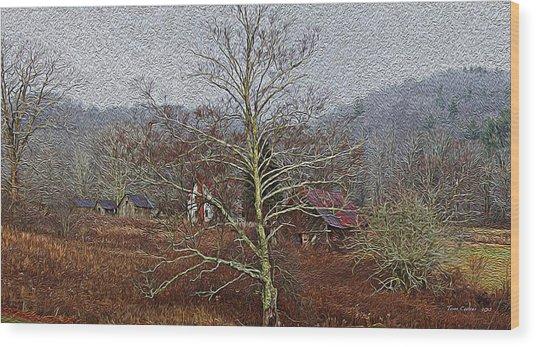 Winter's Sentinel V2 Wood Print