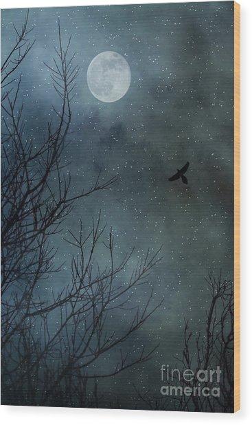 Winter's Silence Wood Print