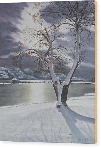 Winter's Whisper Wood Print