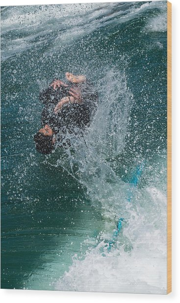 Wipe Out Wood Print by Classic Visions