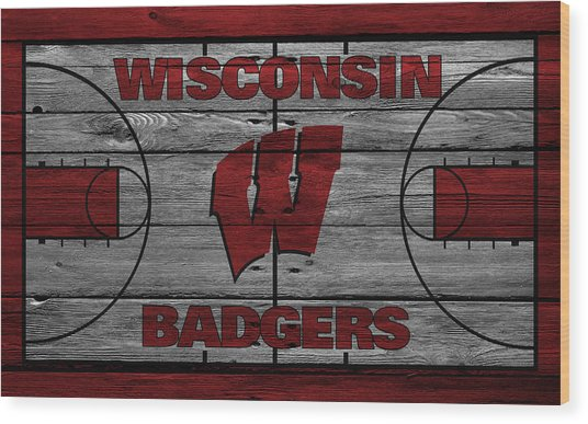 Wisconsin Badger Wood Print