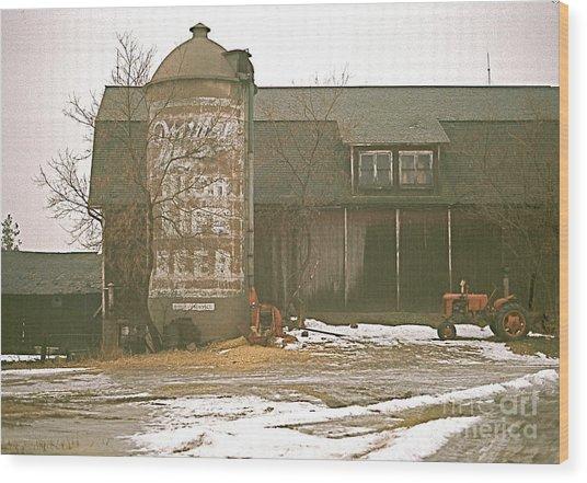 Wisconsin Barn With Silo Wood Print
