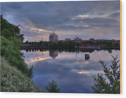 Wisconsin River Reflection Wood Print