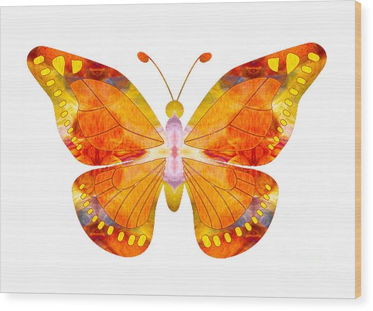 Wisdom And Flight Abstract Butterfly Art By Omaste Witkowski Wood Print