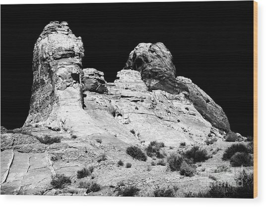 Wise Men Of The Desert Wood Print by John Rizzuto