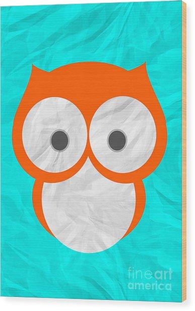 Wise Owl Wood Print by Henrietta Buwalda