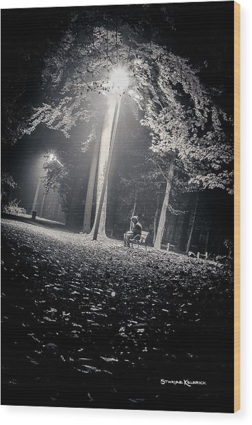 Wood Print featuring the photograph Wish You Were Alone by Stwayne Keubrick