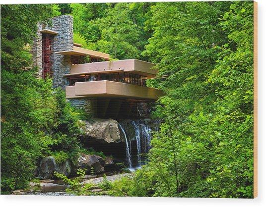 Wishes On Fallingwater Too Wood Print