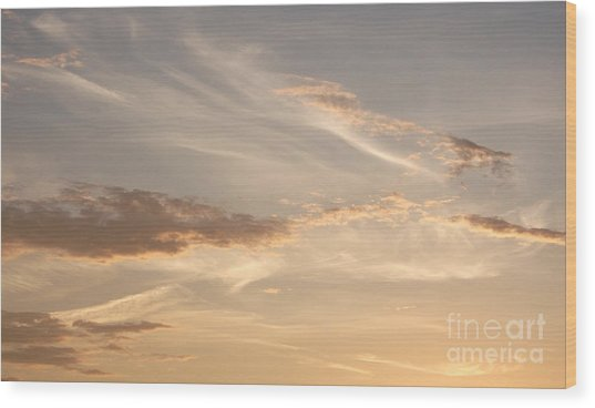 Wispy Sunset Wood Print