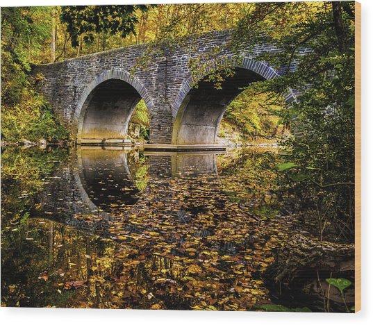 Wissahickon Park Bridge Wood Print