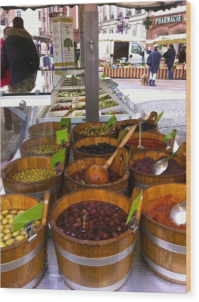 Wissembourg Markets Wood Print
