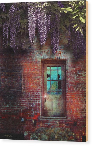 Wisteria Door Wood Print