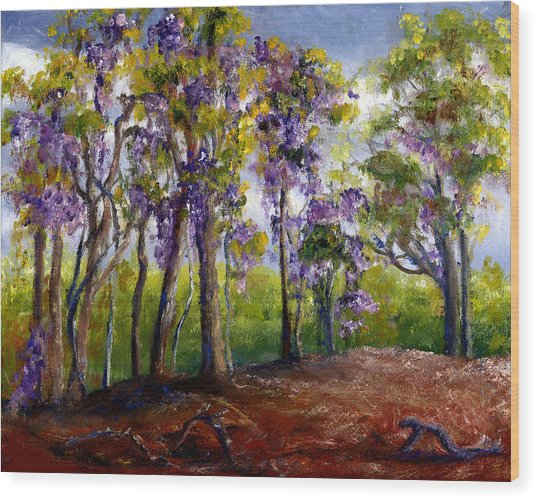 Wisteria In Louisiana Trees Wood Print