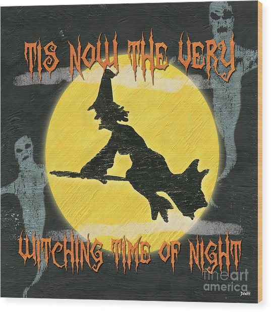 Witching Time Wood Print